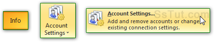 Access your email accounts in Outlook 2010