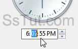 Adjust the system clock's hours, minutes, and seconds