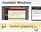 Capture a screen clipping of the background application
