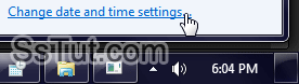 Change date and time settings in Windows 7