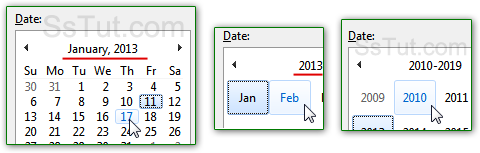 Change the day's date, month, or year in your calendar