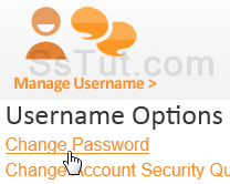 Click Change Password to access your profile