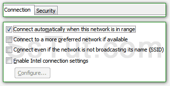 Configure current connection settings