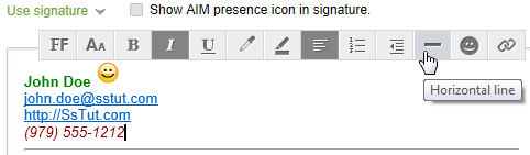 Create an email signature for your AOL Mail account