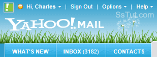Custom Yahoo Mail theme with background picture