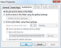 Customize AutoArchive options for an email folder