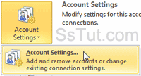 Customize email account settings in Outlook 2010