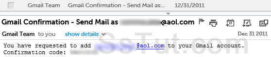 Gmail forward confirmation code
