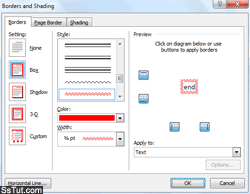 Insert custom borders and shading in your document