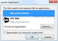Open mailto links with AOL Mail as default email in Firefox
