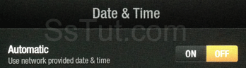 Turn off automatic date and time on Kindle Fire HD
