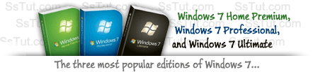 The three most popular Windows 7 editions