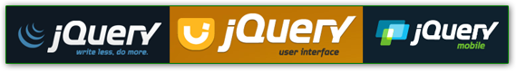 jQuery Core, jQuery UI, and jQuery Mobile